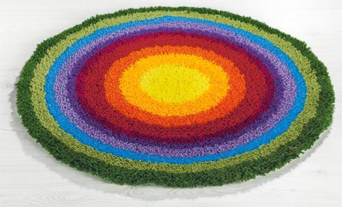 tapis au point noue arc en ciel explications de point noue dans la buttinette loisirs creatifs