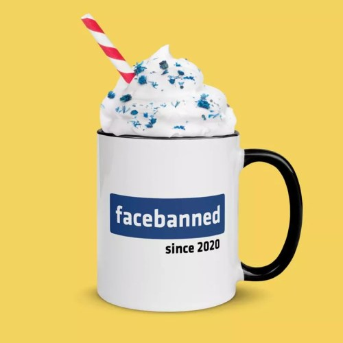 Prohibited cup for the face: whipping cream