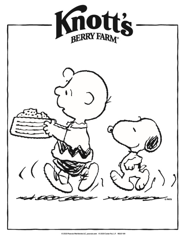 Peanuts Coloring Pages : peanuts, coloring, pages, Knott's, Peanuts, Coloring, Pages