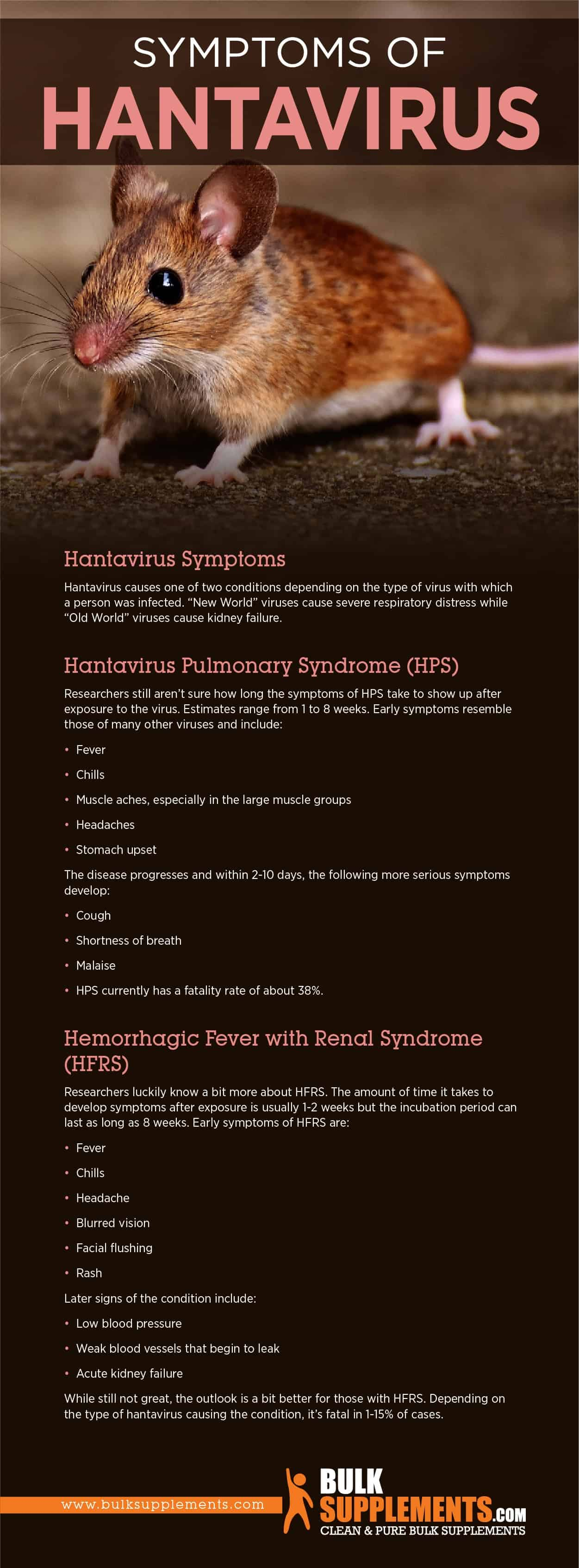 Hantavirus: Symptoms, Causes & Treatment | BulkSupplements.com