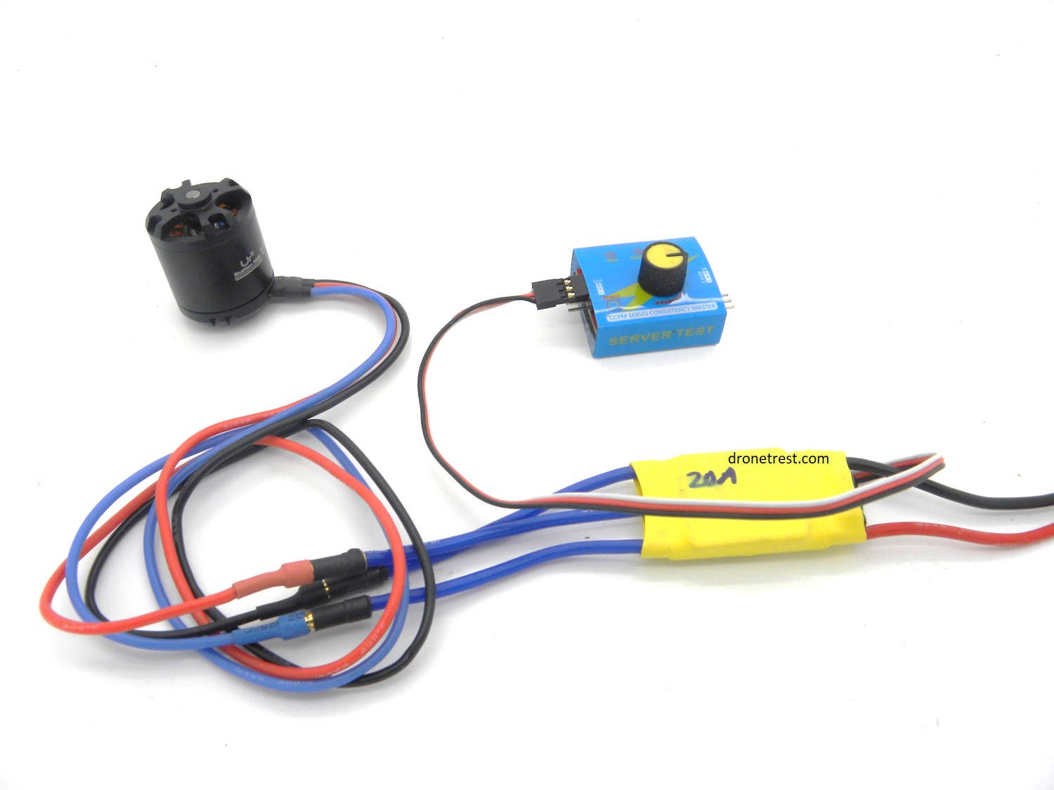 hight resolution of quick tip testing motor spin direction