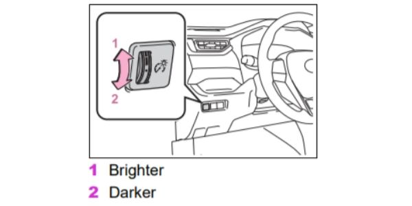 How To Dim the Toyota RAV4 Dashboard Lights and Instrument
