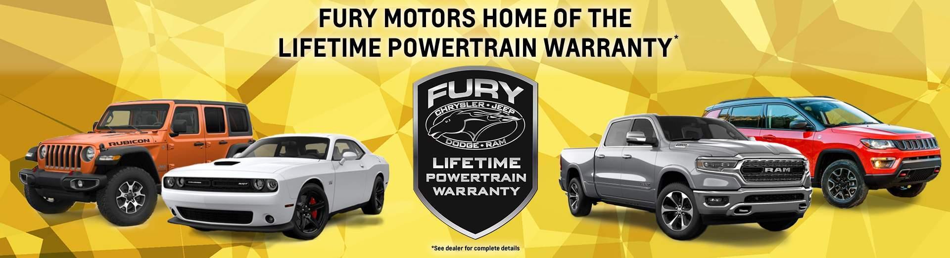 hight resolution of fury complimentary lifetime powertrain warranty