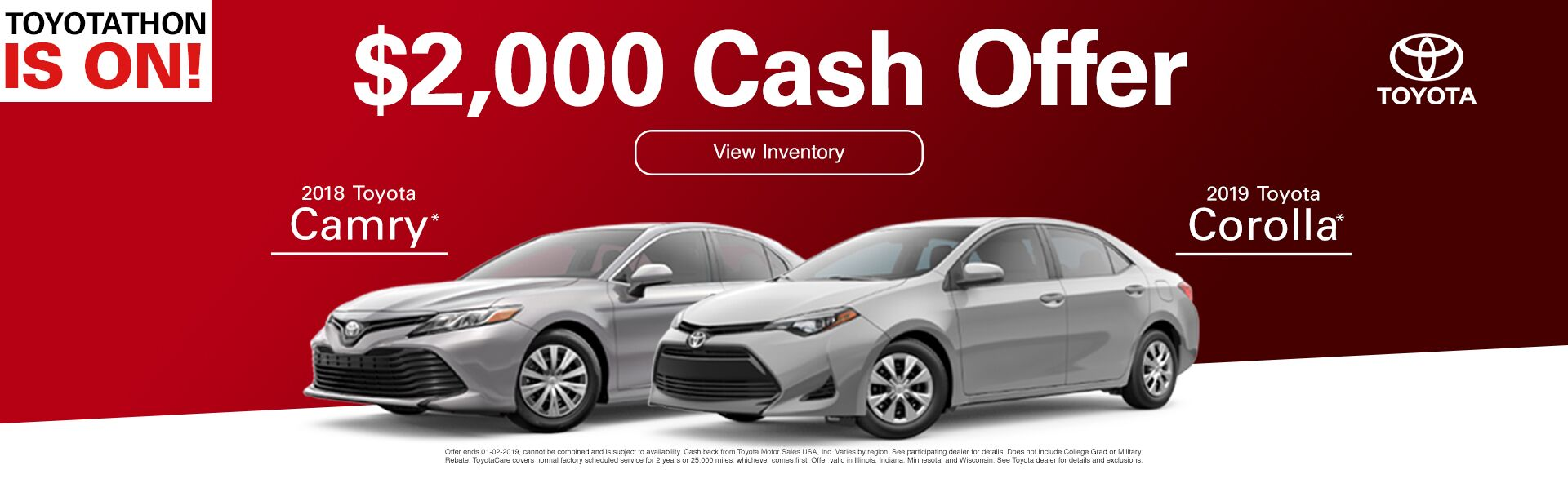 hight resolution of 2000 rebate 2018 camry and 2019 corolla