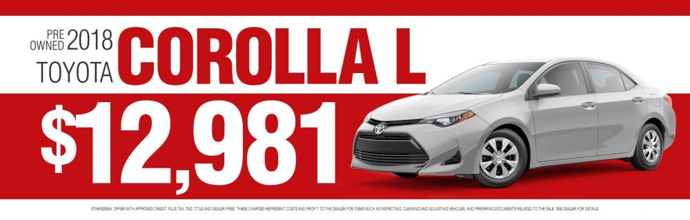 medium resolution of pre owned corolla