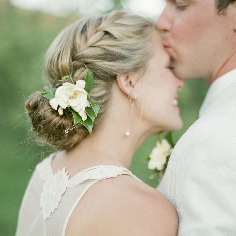 Hochzeitsfrisur Schlicht