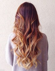 balayage cuivr pointes blond