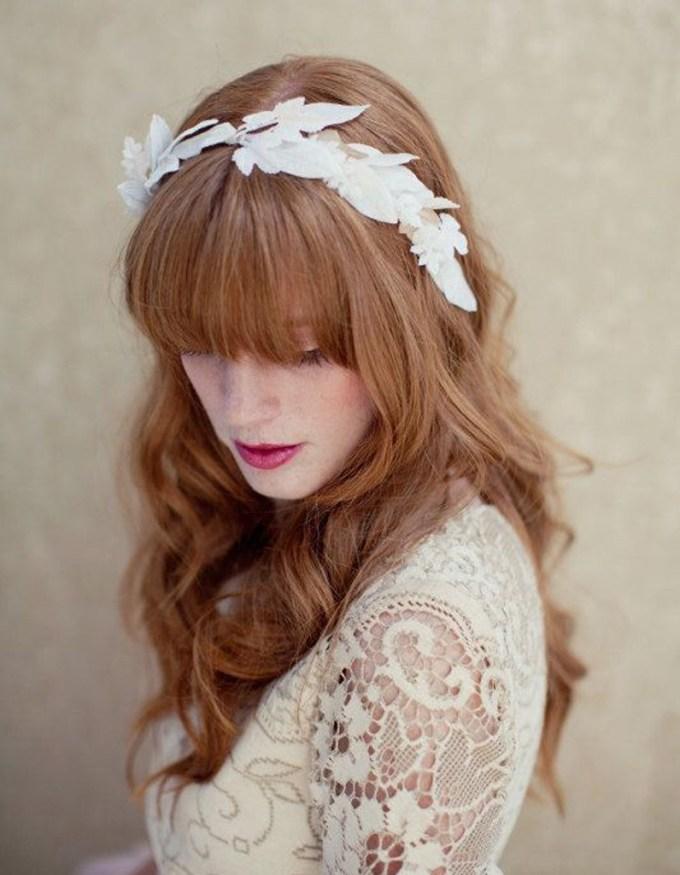 Coiffure Mariage Avec Frange - Wavy Haircut