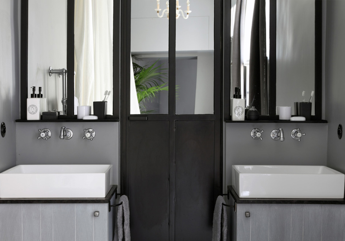 15 salles de bains grises elle decoration