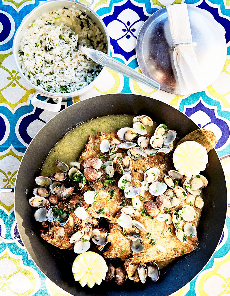 Turbot Au Four Avec Legumes : turbot, legumes, Turbot, Palourdes, Personnes, Recettes, Table