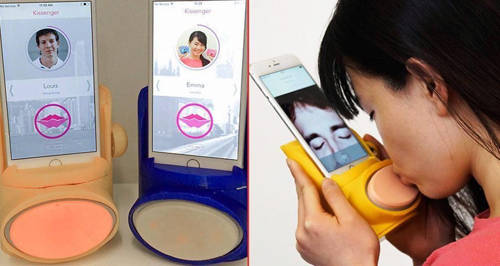 Dispositivo com silicone e sensores permite 'beijar' a distância [vídeo] - Engenharia é: