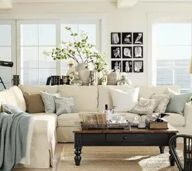pottery barn pictures of living rooms room decorating ideas brown leather couch decor hometalk always delivers the most beautiful spaces
