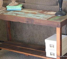 Reclaimed Scrap Wood Sofa Table Hometalk