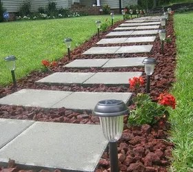 front walkway built of inexpensive