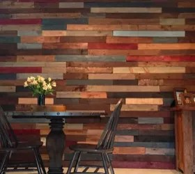 Kitchen With Pallet Wall Finally Finished Orange Oak is