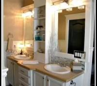Frame and Add a Shelf to a Builder Grade Mirror! | Hometalk