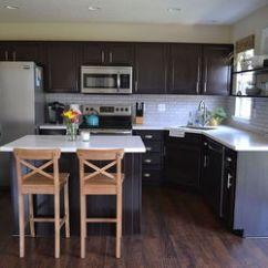 Ikea Kitchen Counters Small Set Reveal - Dark Cabinets, Light | Hometalk