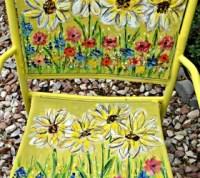 Painted Garden Chair Art   Hometalk