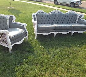 couch and chair set pottery barn nursery painting antique upholstery hometalk paint painted furniture repurposing upcycling