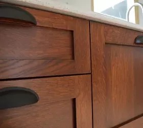 kitchen cabinet stain inserts staining cabinets at home hometalk diy stickley mission finish on
