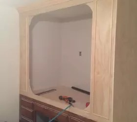 Old Kitchen Cabinets Into Built