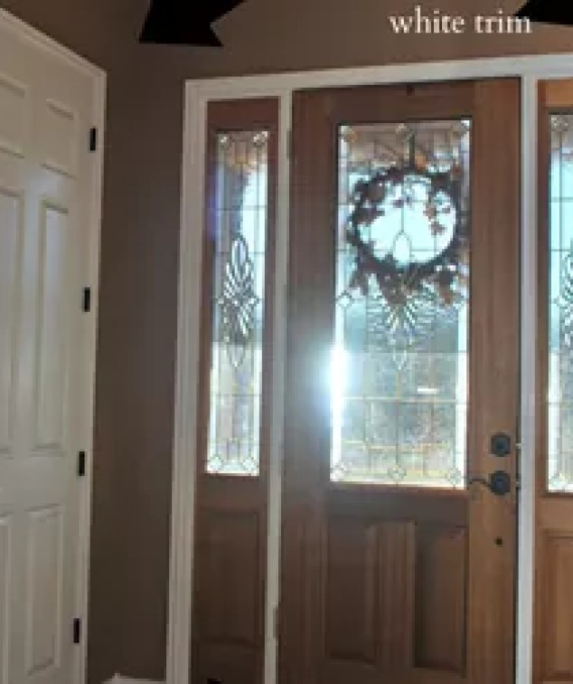White Painted Interior Small: How To Paint Stained Interior Doors White