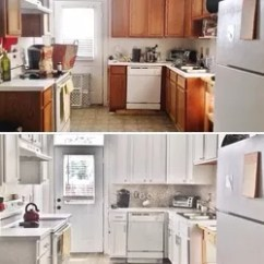 Budget Kitchen Cabinets How To Organize Your Countertops Before After 387 Update Hometalk Diy Backsplash Design