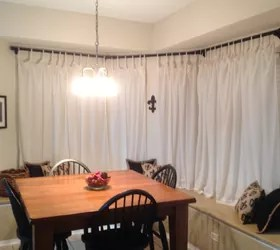 bay window curtain rod hometalk