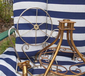 swivel chair disassembly lowes cushions outdoor how to disassemble an antique metal hometalk painted furniture repurposing upcycling