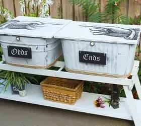 Old Washbin Storage Repurposes Hometalk