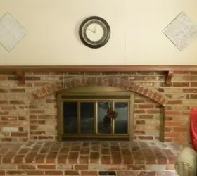 Whitewash Fireplace Photos My Whitewashed Brick Mantel For Fall | Hometalk