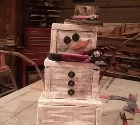 How To Make A Pallet Wooden Snowman Hometalk