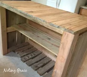 how to make a pallet kitchen island for less than dollars diy kitchen