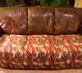 best way to fix a sofa bed dorm black easy quick for battered couch hometalk the end result
