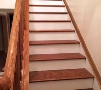 DIY Stairs - Dark Treads and White Risers | Hometalk