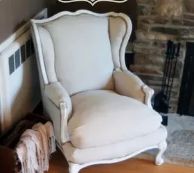 No Sew Wingback Chair Reupholster  Hometalk