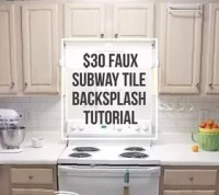 $30 Faux Subway Tile Backsplash DIY
