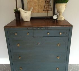 Stained And Chalk Painted Dresser Hometalk