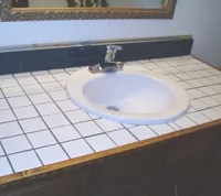 How to Turn Your Tile Counter Top in to Faux Sandstone ...
