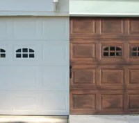 DIY: Faux Stained Wood Garage Door Tutorial | Hometalk