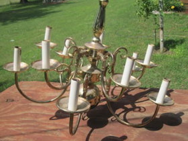 Solar Chandelier Lighting Outdoor Living Painting Repurposing Upcycling