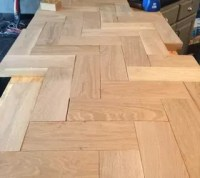 DIY Wood Herringbone Counters | Hometalk