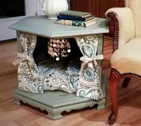 Repurposed Side Table To Posh Pet Bed  Hometalk