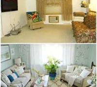 Living Room and Dining Room Makeover on a Budget