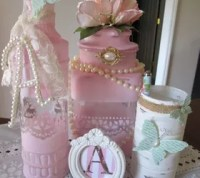 Repurposed Wine Bottles to Decorative Shabby Chic Pieces ...