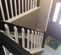 Split Foyer Staircase Gets a Makeover   Hometalk