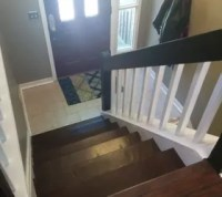 Split Foyer Staircase Gets a Makeover | Hometalk