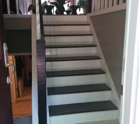 Split Foyer Staircase Gets A Makeover Hometalk | Split Level Entry Stairs | Raised Ranch | Tri Level | Modern | Knee Wall | Entrance