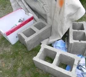 cinder block bench hometalk