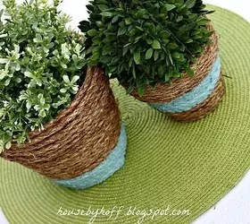 how to upcycle cheap flower pots, container gardening, crafts, gardening, Project via April House by Hoff